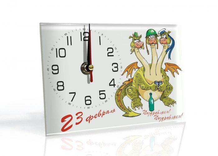 подарки на 23 февраля. Настенные часы на заказ