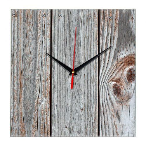 """Дизайнерские настенные часы из стекла """"Дерево и стекло"""" wood glass clock"""