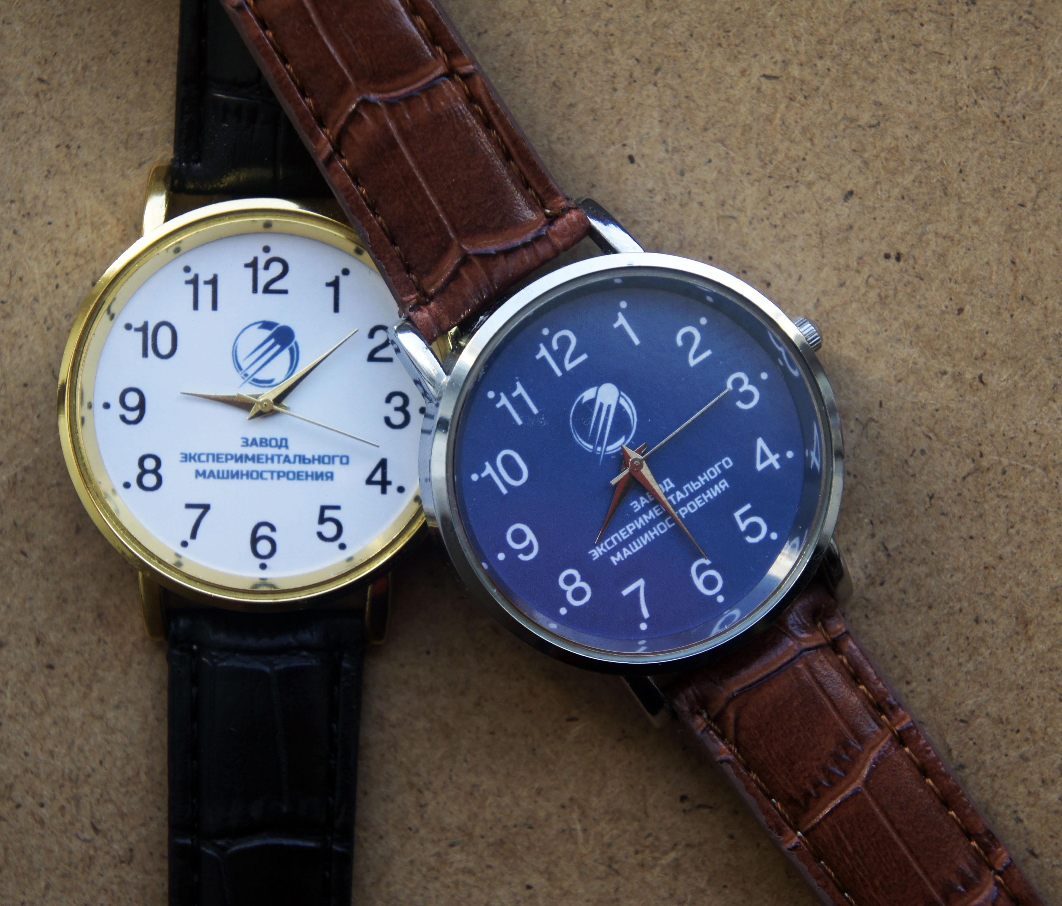 Часы наручные наградные с логотипом и символикой на заказ от часового завода Идеал
