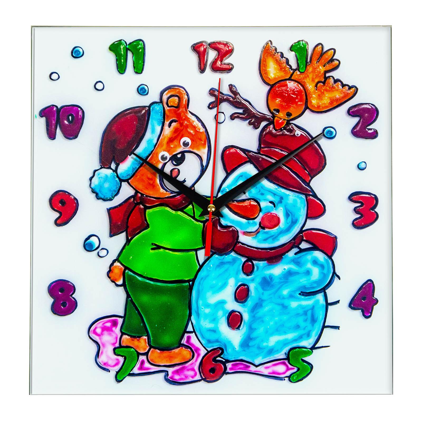 """Часы раскраска на стекле для детей """"Лучшие друзья ..."""